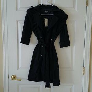 bebe Pleated Sleeve DB Trench Coat